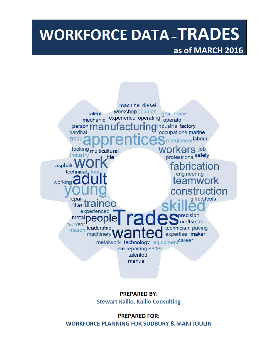 Workforce Trades Data – March 2016