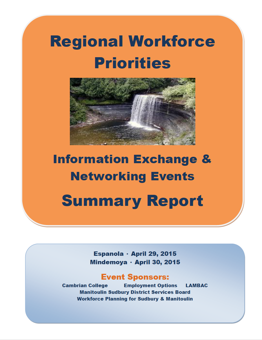 Regional Workforce Priorities – LaCloche & Manitoulin 2015
